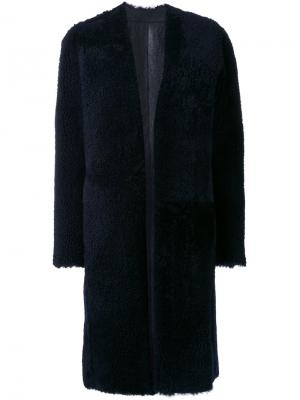 Пальто As MTN Astraet. Цвет: синий