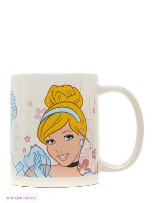 Кружка керамическая в подарочной упаковке. Принцессы Stor. Цвет: белый, голубой, желтый