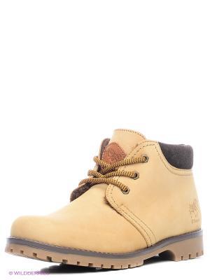 Ботинки El Tempo. Цвет: желтый