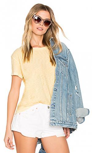 Рваная футболка goldie Nation LTD. Цвет: желтый