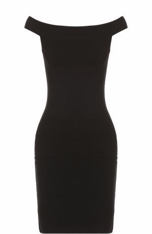 Облегающее платье с открытыми плечами Elizabeth and James. Цвет: черный