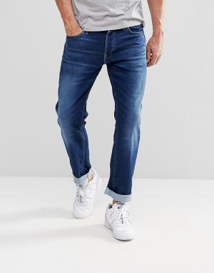 Jack & Jones Эластичные джинсы узкого кроя цвета индиго Intelligence. Цвет: синий