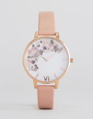 Olivia Burton Часы цвета розового золота 1052138 Enchanted Garden. Цвет: розовый