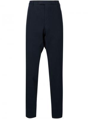 Строгие брюки прямого кроя Boglioli. Цвет: синий