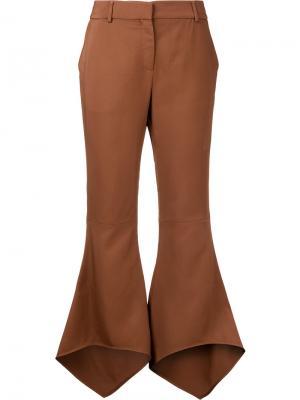 Укороченные брюки клеш Sies Marjan. Цвет: коричневый