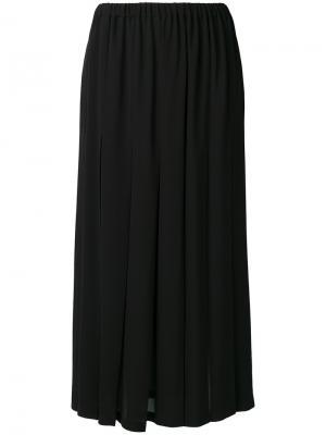 Плиссированная юбка макси Aspesi. Цвет: чёрный