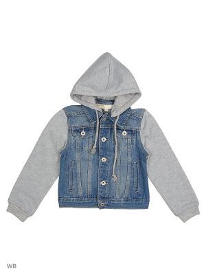 Джинсовая куртка Modis. Цвет: синий, бежевый