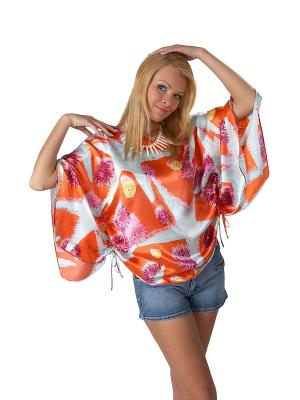 Блузка Lelio. Цвет: оранжевый