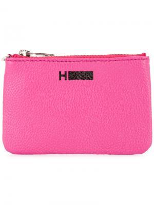 Бумажник с печатью логотипом на молнии H Beauty&Youth. Цвет: розовый и фиолетовый