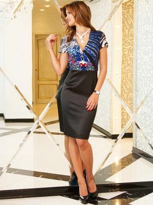Платье Lussotico. Цвет: черный, синий