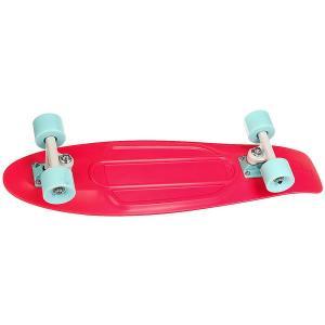 Скейт мини круизер  Nickel 27 Watermelon 7.5 x (69 см) Penny. Цвет: розовый
