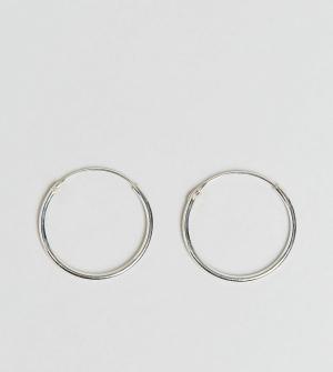 Kingsley Ryan Серебряные серьги-кольца 20 мм. Цвет: серебряный
