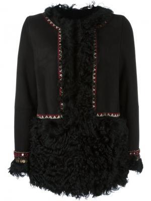 Куртка из овчины Bazar Deluxe. Цвет: чёрный