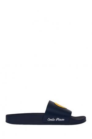 Синие сандалии со смайлом Joshua Sanders. Цвет: синий