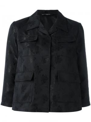 Укороченная жаккардовая куртка Ter Et Bantine. Цвет: чёрный
