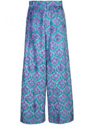 Широкие брюки G.V.G.V.. Цвет: розовый и фиолетовый