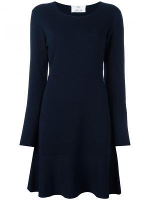 Расклешенное платье с длинными рукавами Allude. Цвет: синий
