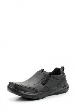 Слипоны Skechers. Цвет: черный