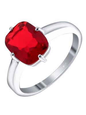 Кольцо Teosa. Цвет: красный
