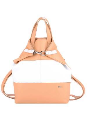 Рюкзак Esse. Цвет: персиковый, белый