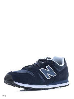 Кроссовки NEW BALANCE 373 SUEDE. Цвет: темно-синий