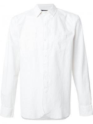 Рубашка с нагрудными карманами Rrl. Цвет: белый