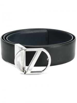 Классический ремень с пряжкой Z Zegna. Цвет: чёрный