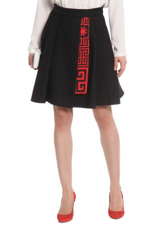 Юбка Versace. Цвет: red, print