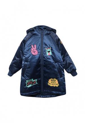 Куртка утепленная Fleur de Vie. Цвет: синий