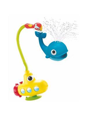 Игрушка водная душ Подводная лодка и Кит Yookidoo. Цвет: голубой, желтый, красный