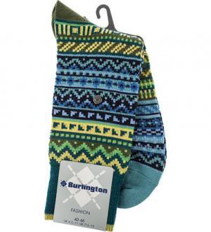 Шерстяные носки в полоску Burlington. Цвет: синий