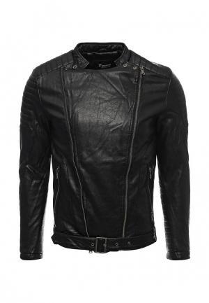 Куртка кожаная Freeside. Цвет: черный