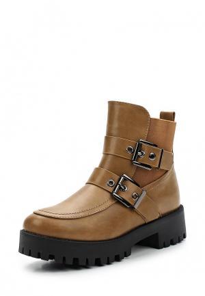 Ботинки Girlhood. Цвет: коричневый