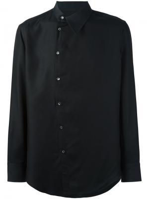 Рубашка со смещенной застежкой Tom Rebl. Цвет: чёрный