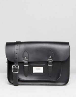 Leather Satchel Company Черная сумка-сэтчел 14. Цвет: черный