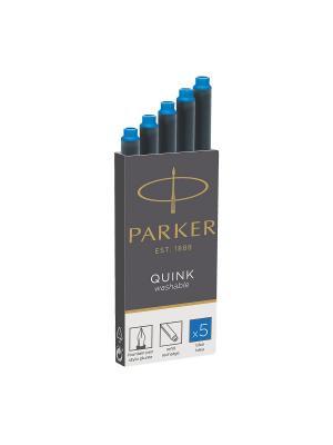 Картридж с чернилами  QUINK для перьевой ручки Parker. Цвет: синий