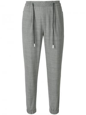Drawstring trousers Eleventy. Цвет: серый