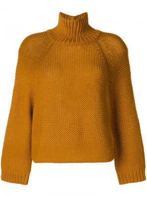 Джемпер-водолазка Fabiana Filippi. Цвет: жёлтый и оранжевый