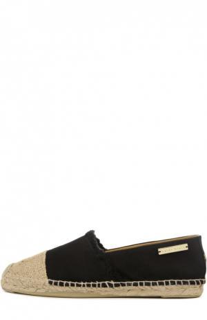 Комбинированные эспадрильи с металлической нашивкой Heidi Klein. Цвет: черный