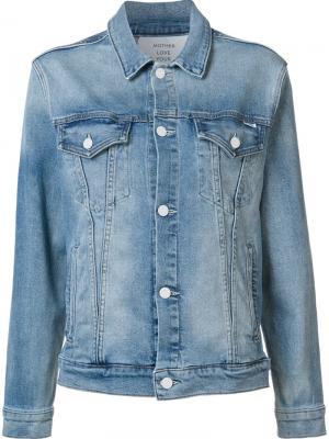 Джинсовая куртка Mother. Цвет: синий
