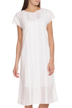 Длинное платье с рукавами Крылышко EUROPEAN CULTURE. Цвет: белый