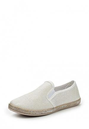 Слипоны Sweet Shoes. Цвет: бежевый
