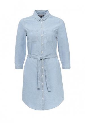Платье джинсовое Tommy Hilfiger. Цвет: голубой