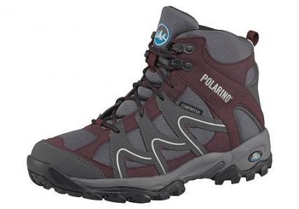 Спортивная обувь Trail High, Polarino. Цвет: бордово-красный