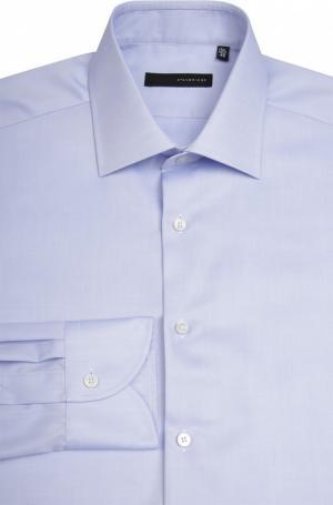 Сорочка с воротником кент свободного фасона Stanbridge. Цвет: голубой