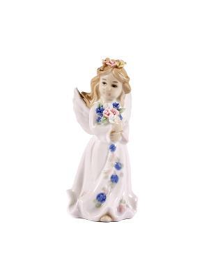 Статуэтка Ангелочек Русские подарки. Цвет: белый, синий