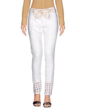 Повседневные брюки EUREKA. Цвет: белый