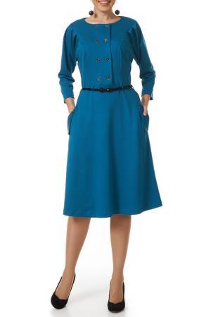 Платье с ремнем Argent. Цвет: бирюзовый