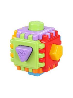 Логический куб Геометрик Альтернатива. Цвет: салатовый, красный, фиолетовый