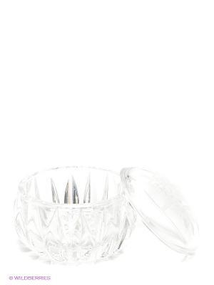 Шкатулка, 7,6 см Crystal Bohemia. Цвет: прозрачный
